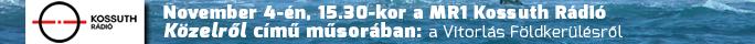 Kossuth Rádió November 4-én, 15.30-kor a Közelről című műsorban: a Vitorlás Földkerülésről